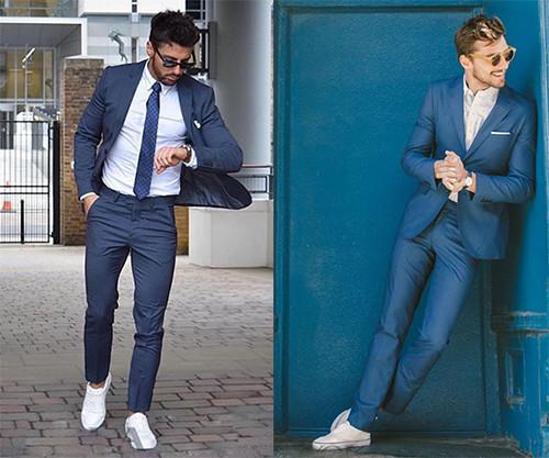 皮鞋资讯:西装+小白鞋
