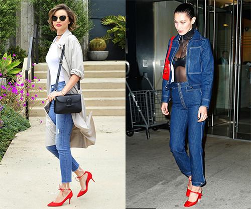 皮鞋时尚资讯:红色高跟鞋怎么搭配