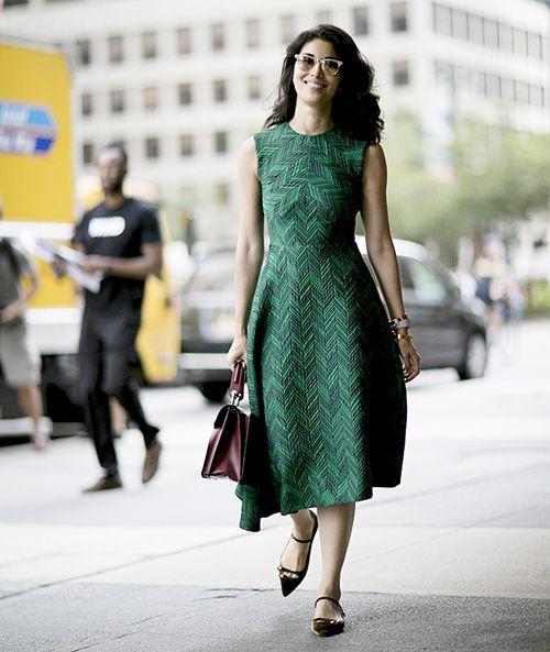 时尚资讯:小个子怎么穿连衣裙+平底鞋