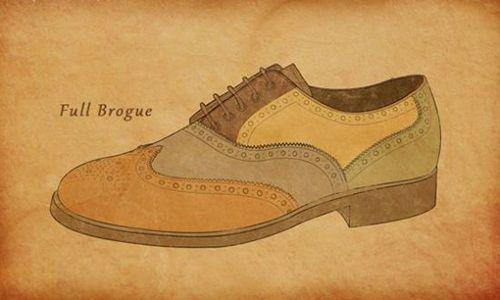 全布洛克皮鞋