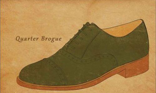 四分之一布洛克皮鞋