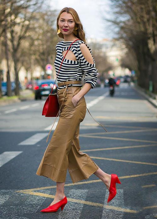时尚资讯:横条纹怎么穿比较显瘦