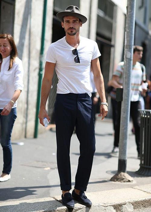 夏天男士穿乐福皮鞋怎么搭配