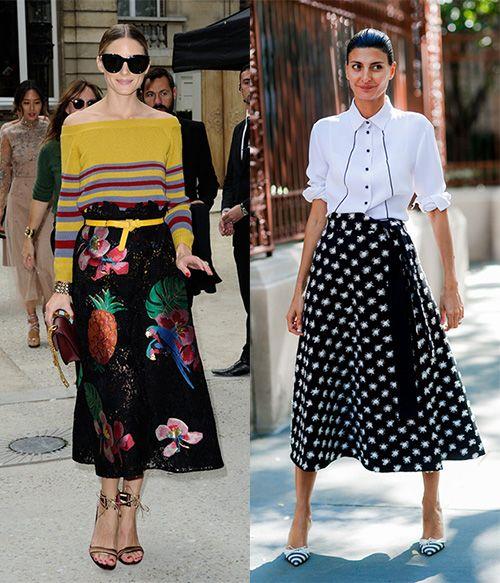 时尚资讯:高腰裙该怎么穿
