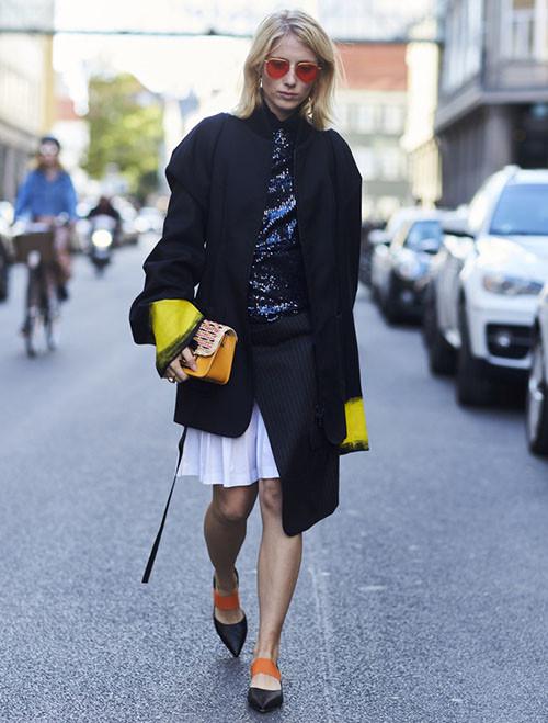 皮鞋时尚资讯:尖头平底鞋