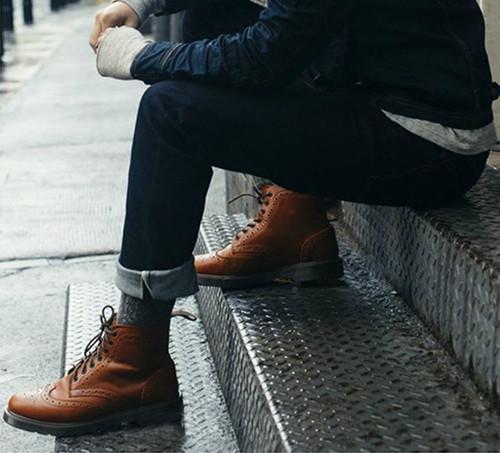 皮鞋怎么搭配牛仔裤
