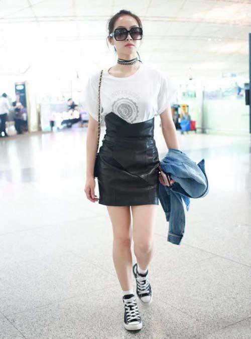 时尚资讯:小皮裙搭配
