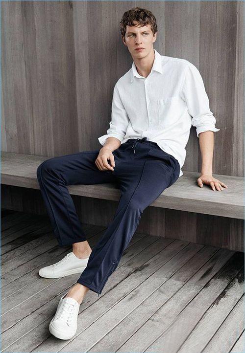 奥康小白鞋搭配方法