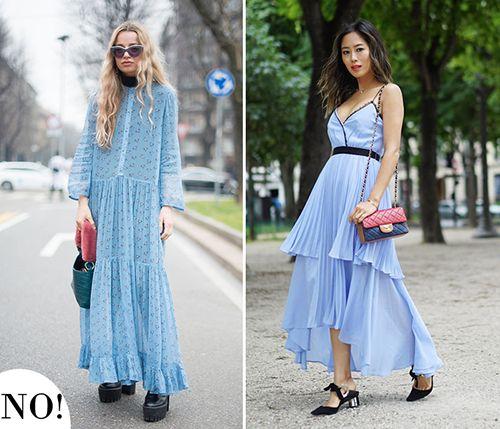 皮鞋时尚资讯:长裙搭配高跟鞋
