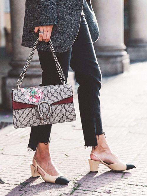 时尚资讯:方跟鞋搭配