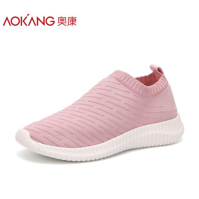 2018夏季新款透气运动鞋 女士飞织休闲鞋潮流女鞋